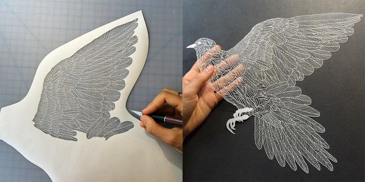 فنون قص الورق مع الفنانة ماود وايت