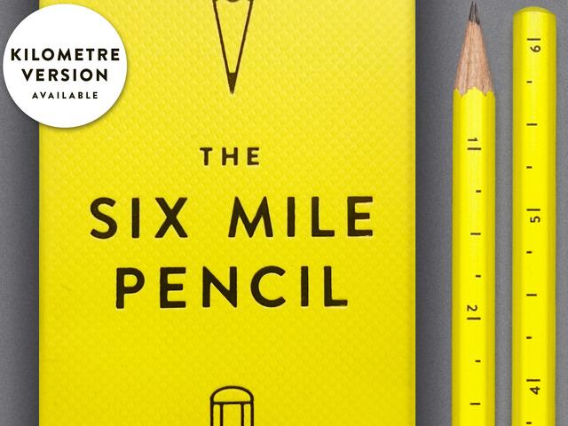 قلم رصاص بتدريج 6 أميال